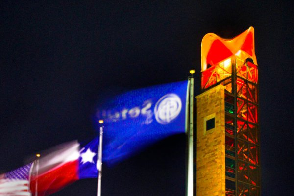 Image for Hook 'em Horns: Dell Children's glows orange