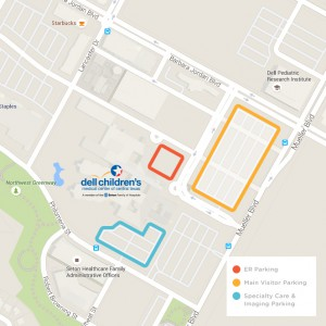 All Visitor Parking Map - Dell Children's Medical Center