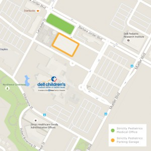 Strictly Pediatrics Parking Map