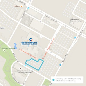 Specialty Care Center, Imaging & Rehabilitation Parking Map