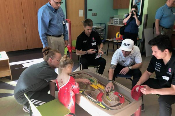 Image for IndyCar drivers visit patients at Dell Children's